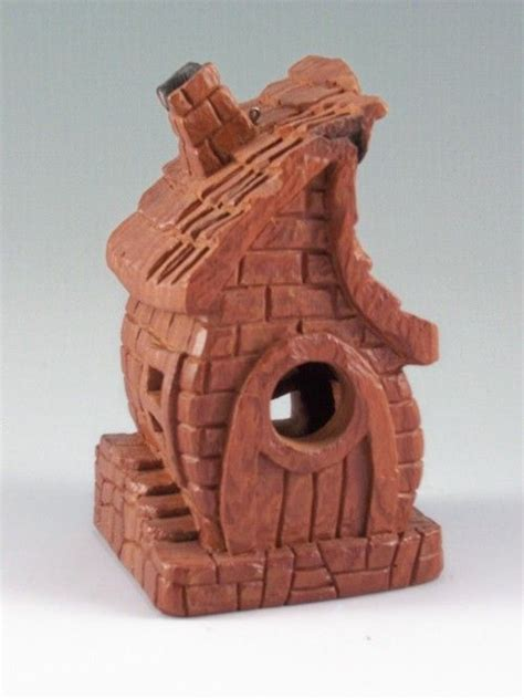 cottonwood bark carving bird chalet   view