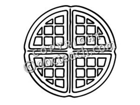 waffle house coloring page clip art basic words waffle b w unlabeled abcteach