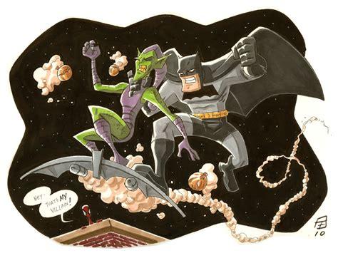 goblin batman film bat vs goblin by otisfrton on deviantart