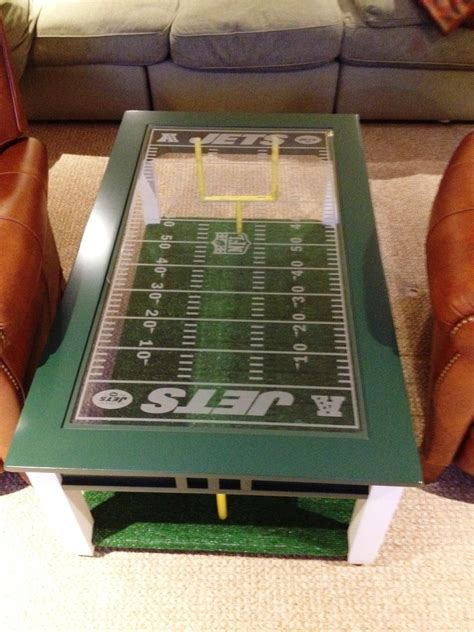 hand  football fans coffee table  impressive