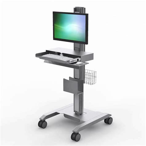 Computer Desk Cart Rolling Computer Desks Mobile Computer Workstation Stand Cart Afcindustries Hello Computer