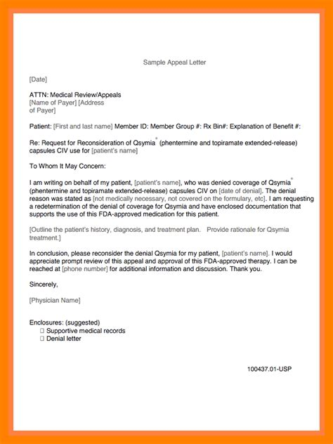 Appeal Letter Sle Health Insurance insurance appeal letter out of network 28 images sle