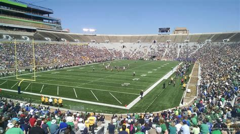 Notre Dame Stadium Sections by Notre Dame Stadium Section 16 Rateyourseats