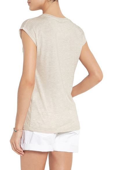 By Malene Birger Printed Cotton Camisole by By Malene Birger Umtra Printed Cotton Blend T Shirt