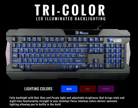 Keyboard Mouse Thermaltake Commander Combo Black thermaltake commander combo gaming keyboard and mouse