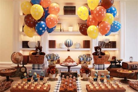hot party themes 2015 hot air balloon first birthday party ideas for boys 33055