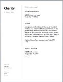 Charity Donation Letter Examples Sample Charity Letter Free Sample Letters