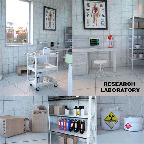 3d design lab google research laboratory interior 3d model cgtrader