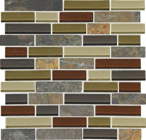 menards kitchen backsplash mohawk phase mosaics stone and glass wall tile 1 quot random