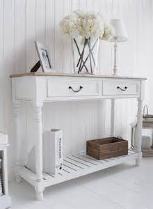 White Hallway Console Table White Console Table For Furniture Style