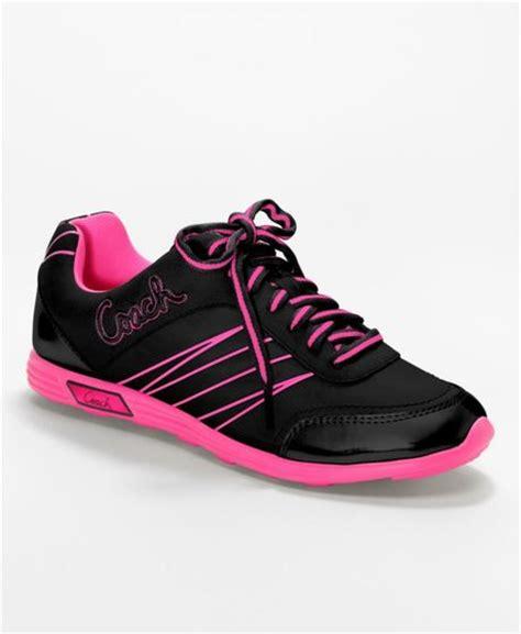 pink coach sneakers coach darla sneaker in pink black electric pink lyst