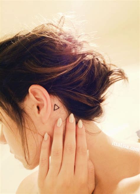 circle tattoo behind ear claw nails and simple behind the ear triangle tattoo