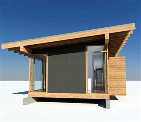 glass and wood small house design by vandeventer
