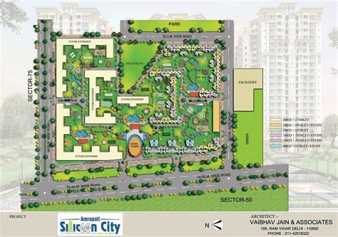 layout plan amrapali silicon city sector 76 noida
