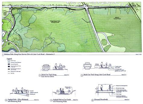 Chicago Botanic Garden Bike Trail Branch Trail Addition Chicago Botanic Garden