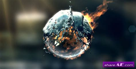 fire water logo after effects project videohive