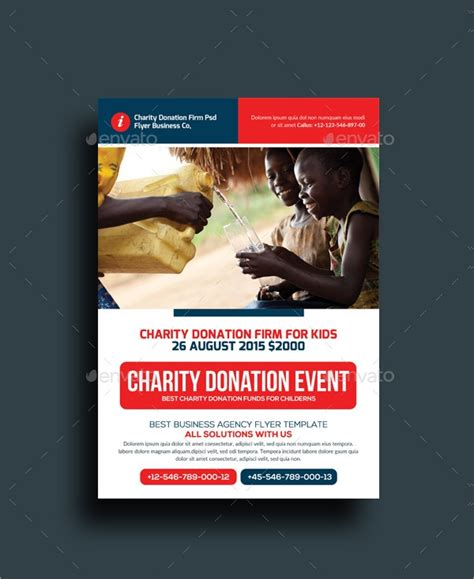 15 Donation Flyer Designs Exles Psd Ai Donation Flyer Template