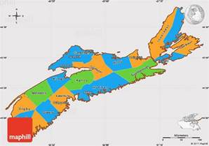map of eastern canada and scotia political simple map of scotia cropped outside