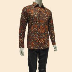 Baru Kemeja Batikbatik Pria Modernhem Batik Kanaya Pendek Hitam 2 model kemeja batik pria lengan pendek warna hitam kombinasi krem bahan dari katun hanya 65 000