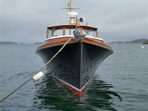 yacht style boat 1950 william frost downeast style lobster yacht power boat