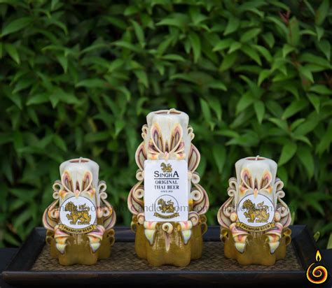 Handmade Carved Candles - handmade carved candles set 6 candleboom