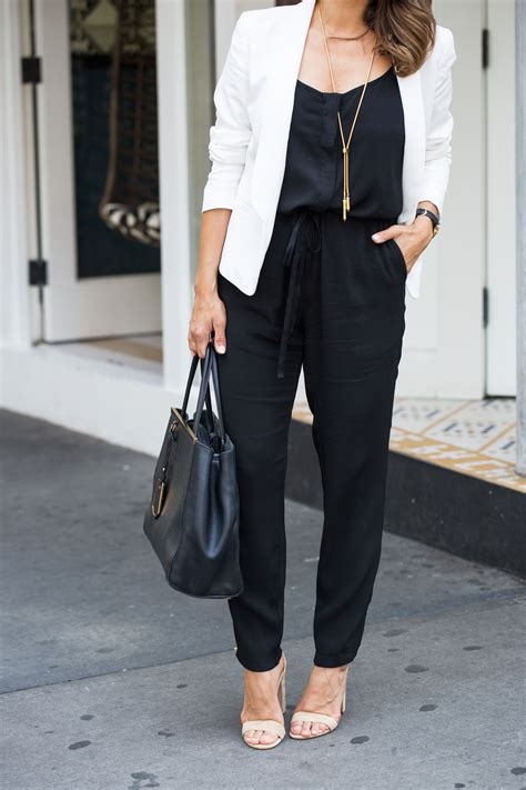 Mens Work M Andrew Clutch Black how to wear a black jumpsuit to work with a white blazer