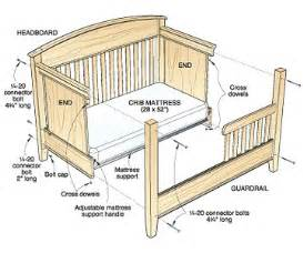 woodwork baby bed plans pdf plans