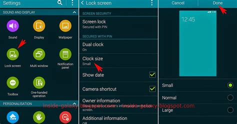 lock layout view gis inside galaxy samsung galaxy s5 how to change the clock