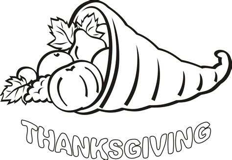 coloring pages thanksgiving day thanks colouring pages
