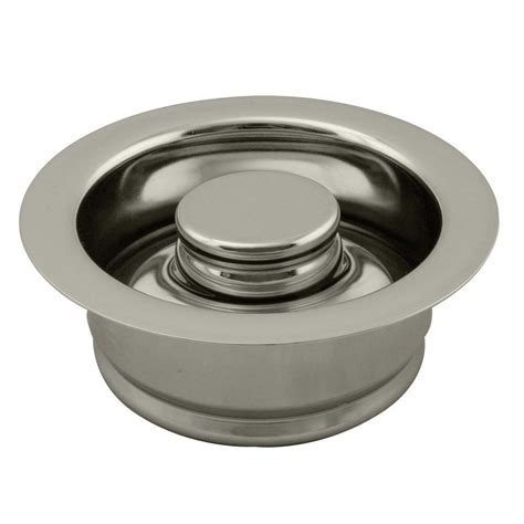 sink disposal home depot insinkerator sink stopper in stainless steel for