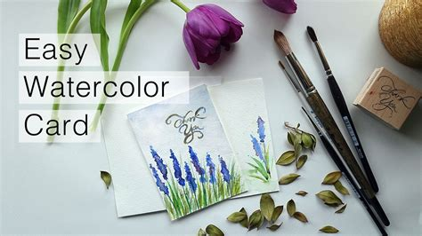 how to water color how to watercolor thank you card speed painting
