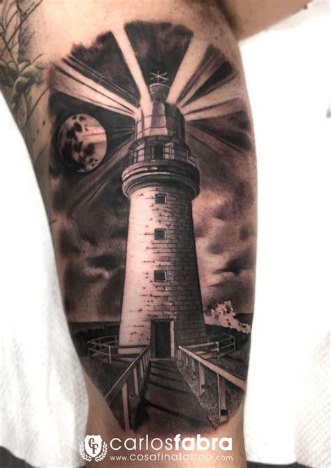 cosafina tattoo carlos art studio tatuaje faro paisaje