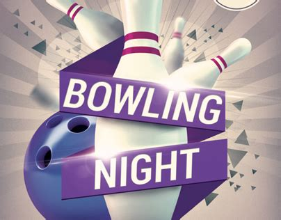 free bowling flyer template bowling flyer template v2 on behance