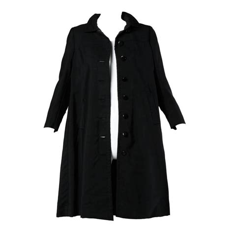 black swing coat 1960s ben zuckerman for i magnin vintage wool silk
