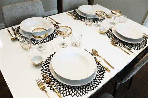 simple table settings black white simple table setting aimee mars the