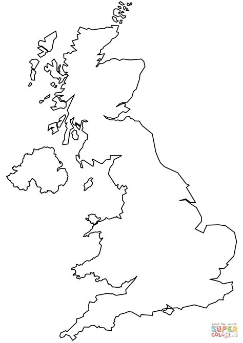 uk map coloring page united kingdom blank outline map coloring page free