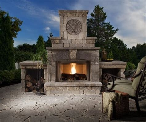 Brighton Fireplace by Belgard Elements Collections Landscaping Network