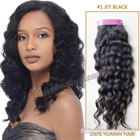 black hairstyles with remy hair 30 inch 1 jet black curly indian remy hair wefts