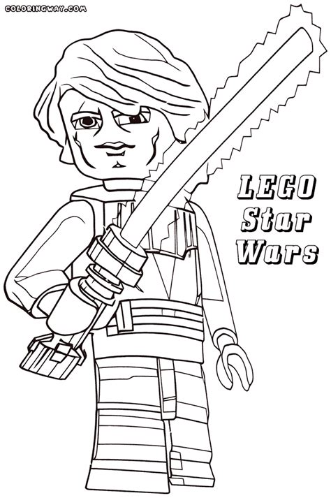 lego wars anakin coloring pages lego wars coloring pages coloring pages to