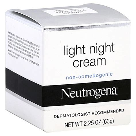 neutrogena light night cream neutrogena 174 2 25 oz light night cream bed bath beyond