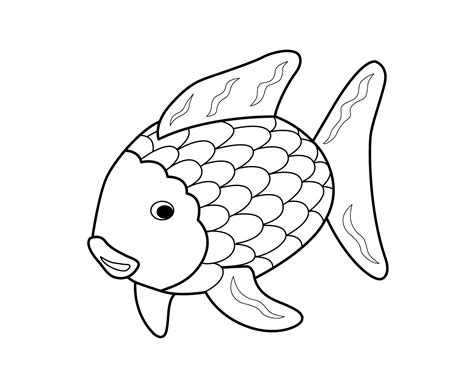 fish coloring page pdf rainbow fish coloring page coloring home