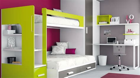 kids room bunk beds space saving cool design ideas