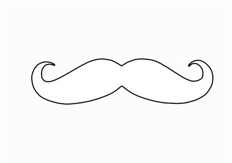 mustache templates moustache outline clipart best