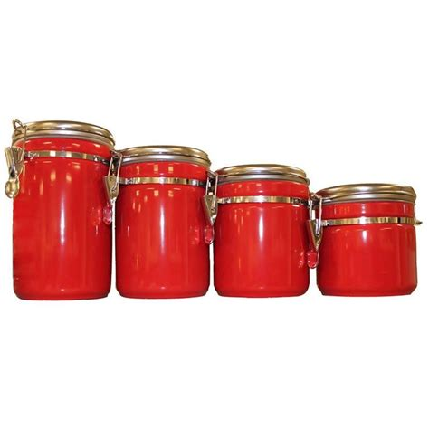 red ceramic kitchen canisters 17 best ideas about red canisters on pinterest red