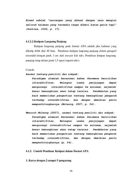 format rancangan skripsi cara mengutip skripsi