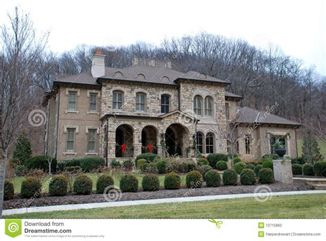 Luxury Ranch Floor Plans christmas stone luxury home 44 stock photography image