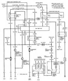 1992 honda prelude air conditioner electrical circuit and