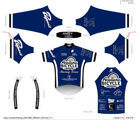 bicycle jersey template acadiana bicycle company race team jersey