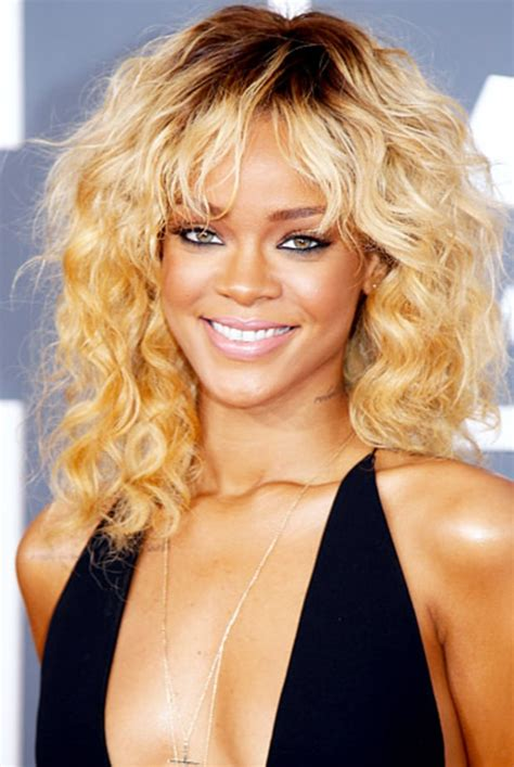 celebrities wiry hair rihanna music s hottest curly haired stars us weekly