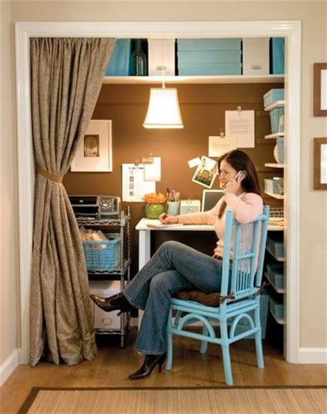 Home Office Closet Ideas A Closet Turned Home Office From Lowe S Blisstree